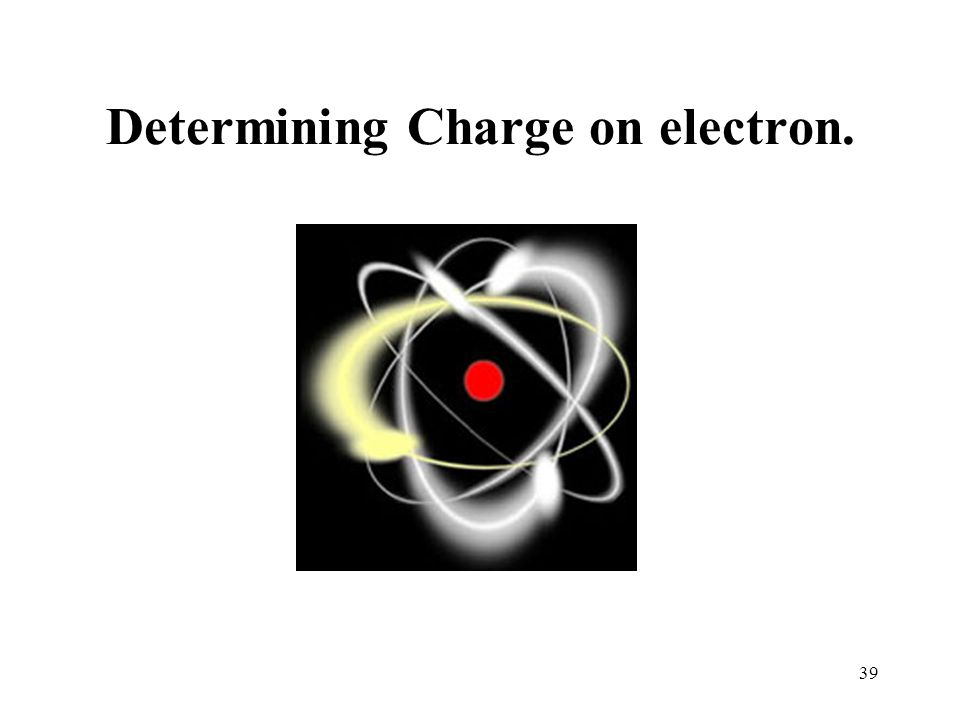 39 Determining Charge on electron.
