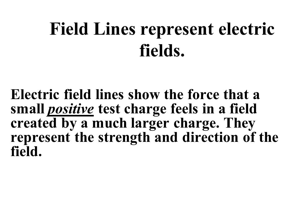 Field Lines represent electric fields.