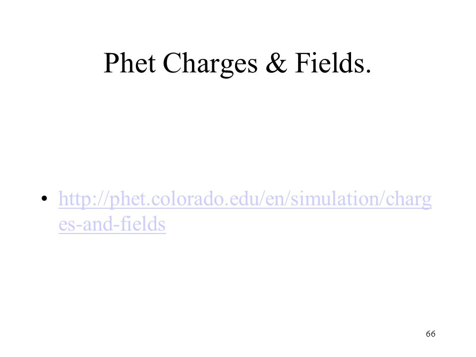 Phet Charges & Fields.