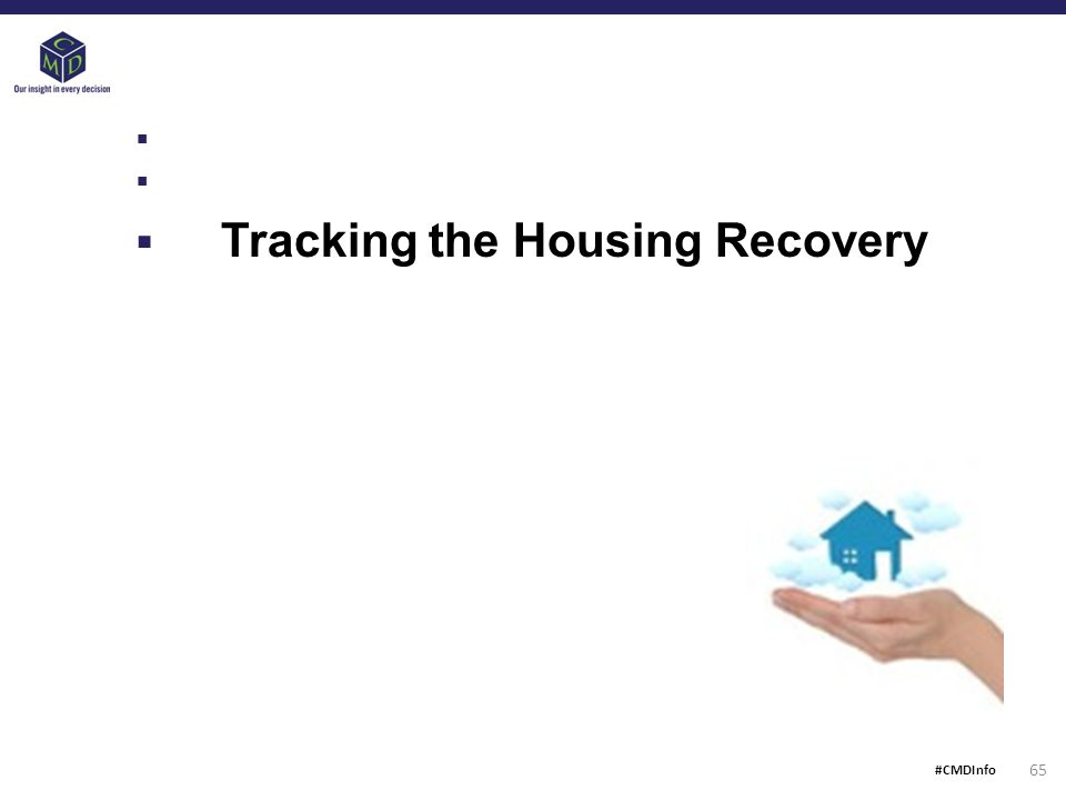  Tracking the Housing Recovery 65 #CMDInfo
