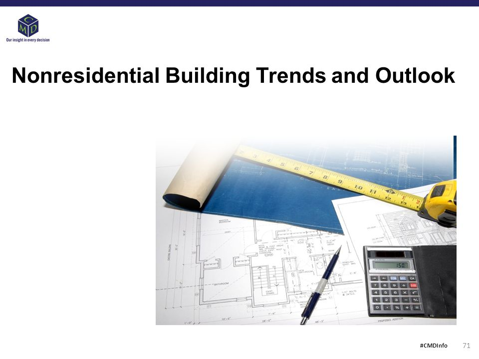 Nonresidential Building Trends and Outlook 71 #CMDInfo
