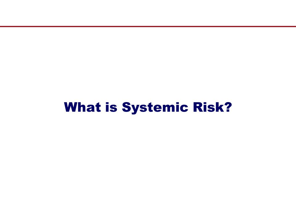 A Measure of Systemic Risk III  Systemic risk measure is calculated as risk-neutral expectation of portfolio credit losses that reach at least a minimum share (15%) of sector's total liability = systemic risk measure for insurance industry L t = portfolio credit losses TL t = total liability of insurance sector at time t