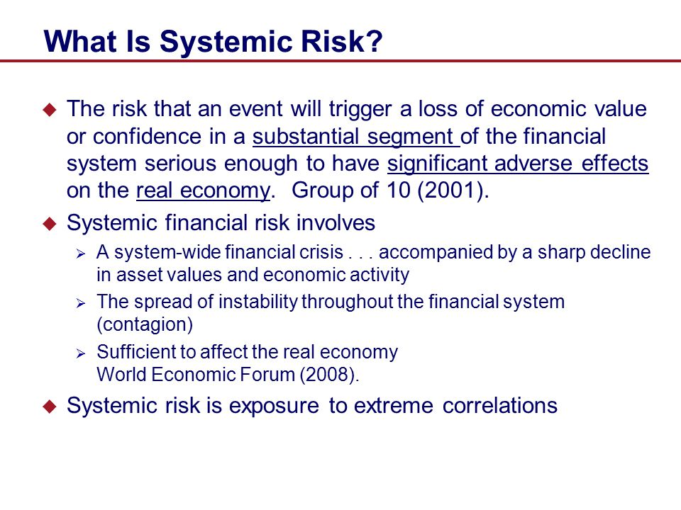 Non-Linear GARCH Models: Main Results  Nonlinear effect of insurers on banks is highly significant at 1 lag  Significance fades after 3 lags  Banks in contrast have persistent predictive power on insurers up to 5 lags  Systemic risk of banks has longer duration of impact on insurers  Impact is also stronger than insurer effect on banks