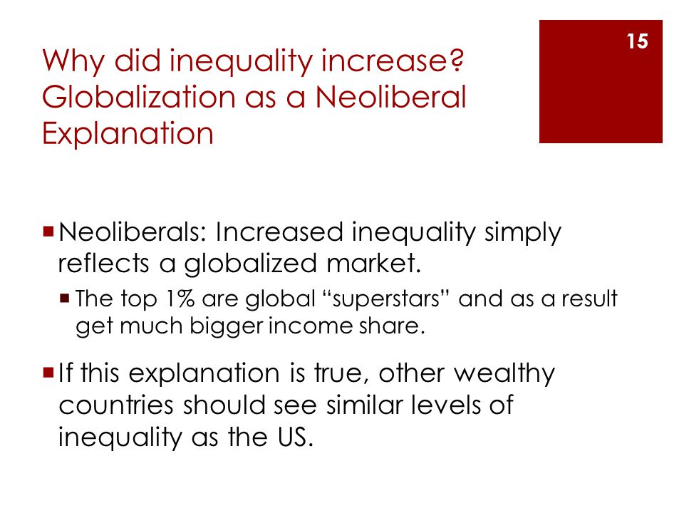 Why did inequality increase.