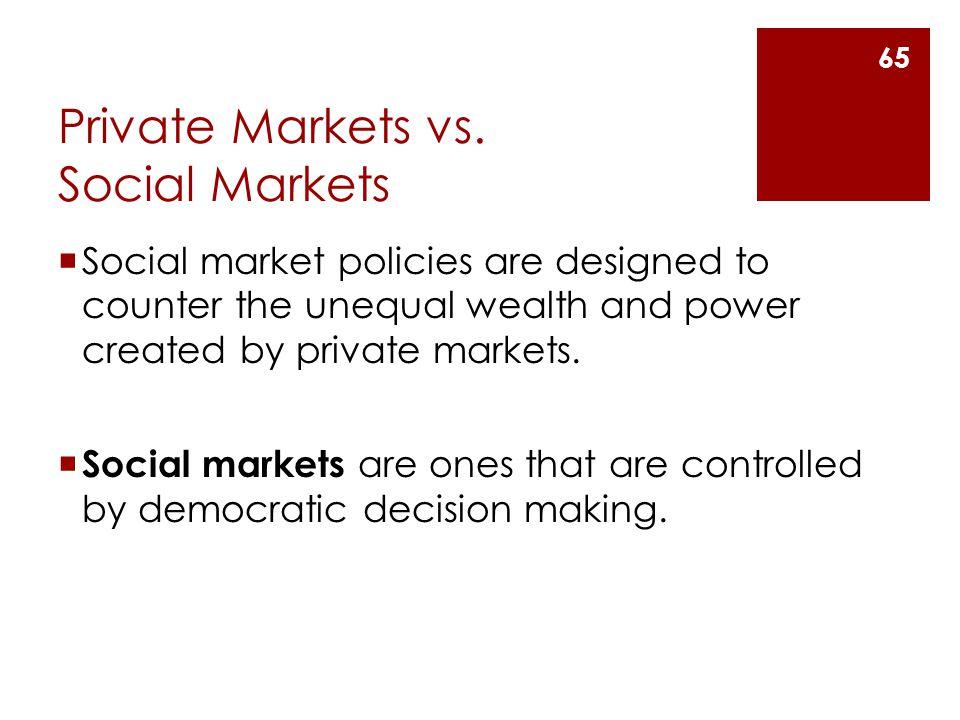 Private Markets vs.