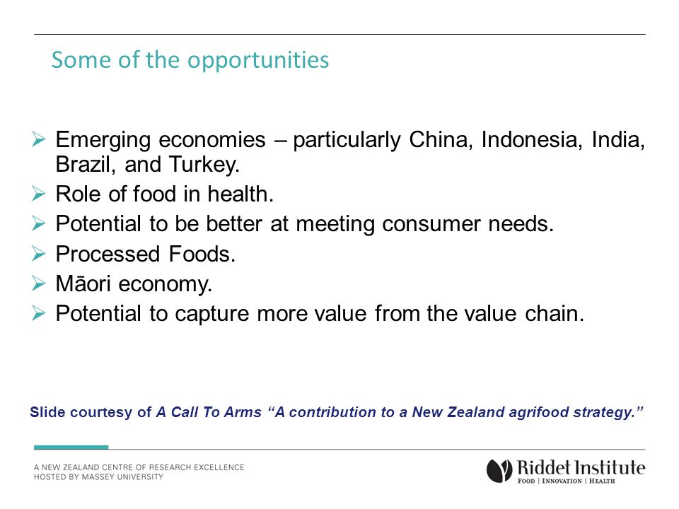 Some of the opportunities  Emerging economies – particularly China, Indonesia, India, Brazil, and Turkey.