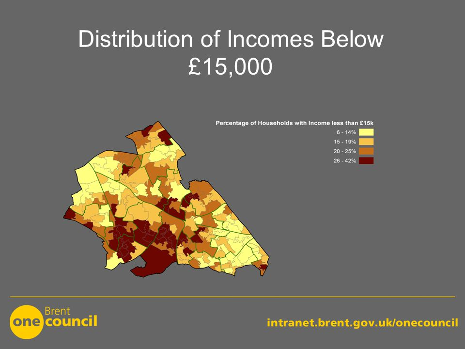 Distribution of Incomes Below £15,000