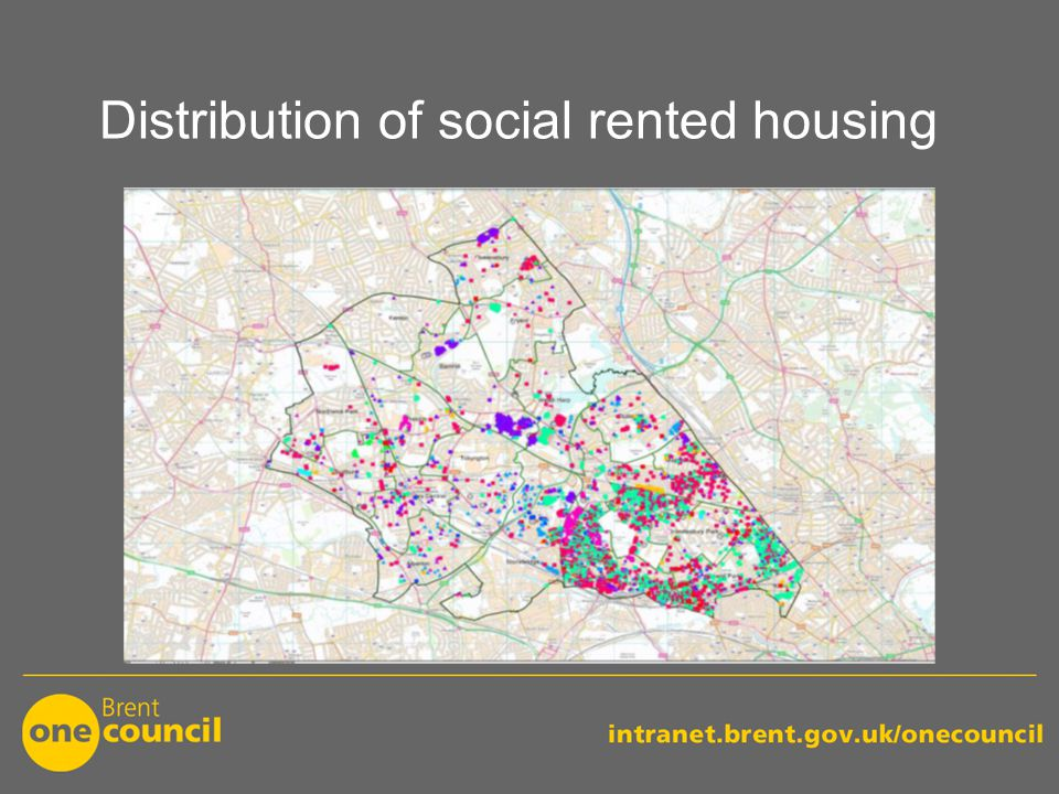Distribution of social rented housing