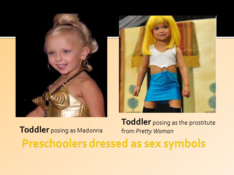 Toddler posing as Madonna Toddler posing as the prostitute from Pretty Woman