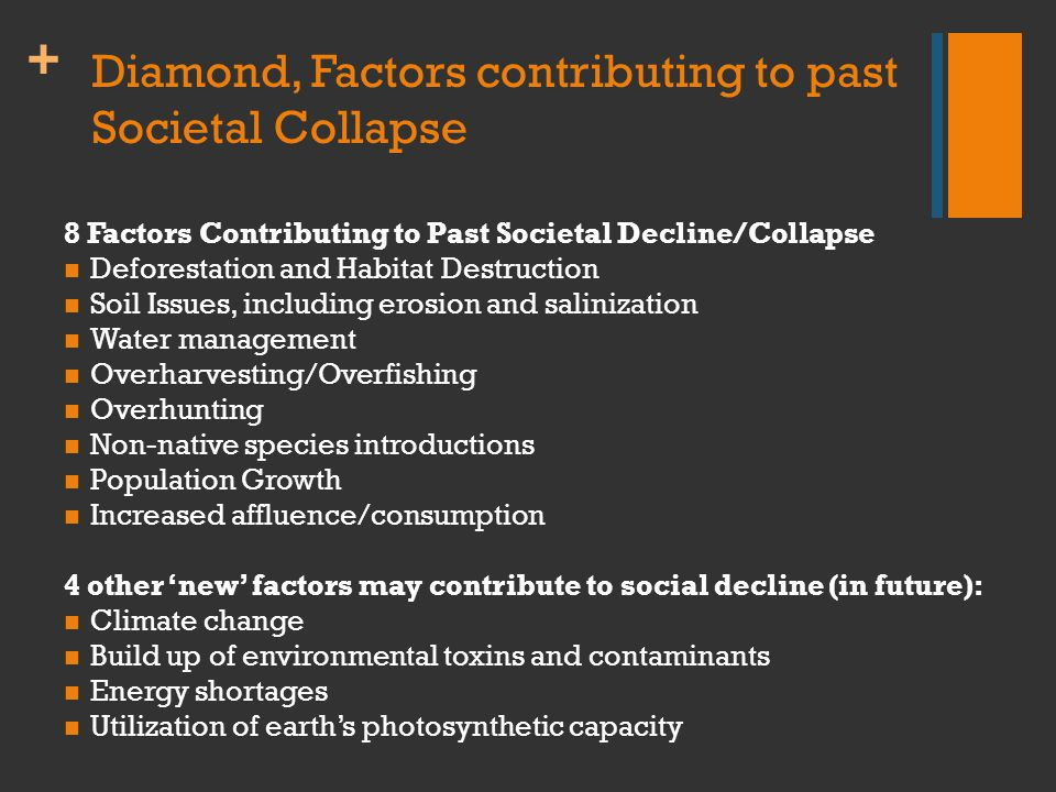 + Diamond, Misconceptions about Environment 1.