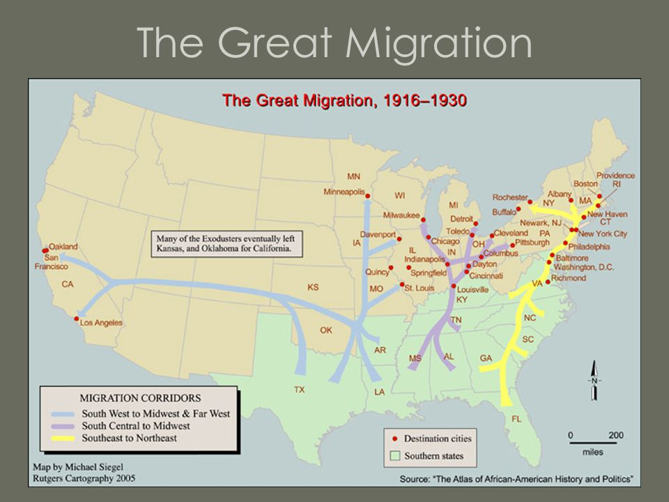 Urban Culture The concentration of African Americans in urban areas directly led to a rise in African American culture.