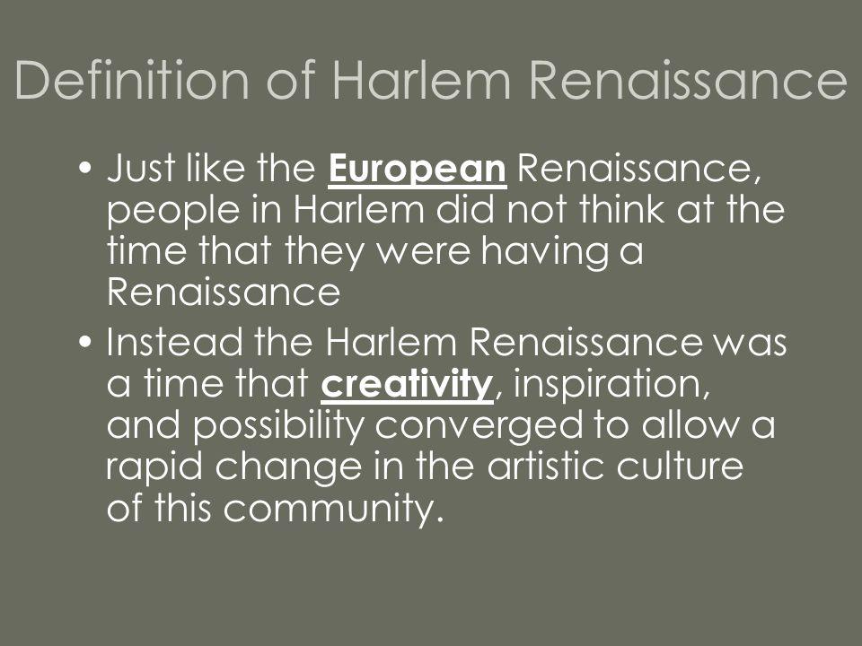 The Century - Harlem Renaissance