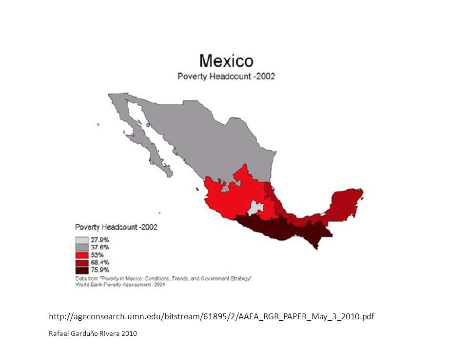http://ageconsearch.umn.edu/bitstream/61895/2/AAEA_RGR_PAPER_May_3_2010.pdf Rafael Garduño Rivera 2010