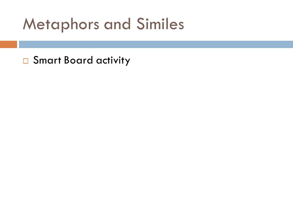 Metaphors and Similes  Smart Board activity