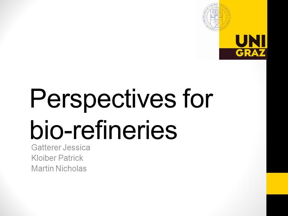 Gatterer Jessica Kloiber Patrick Martin Nicholas Perspectives for bio-refineries