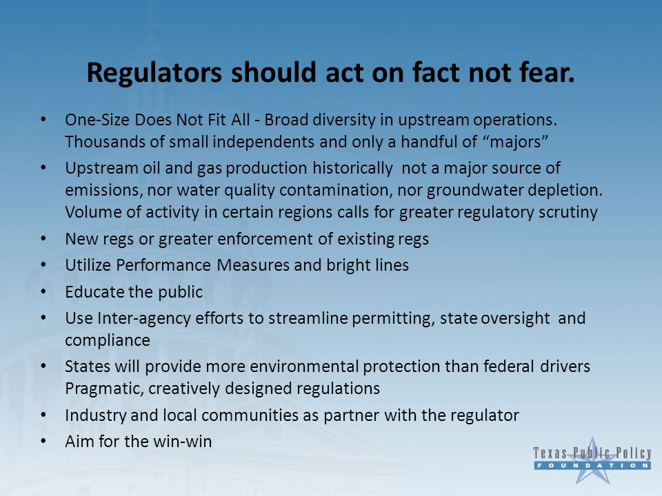 Regulators should act on fact not fear.