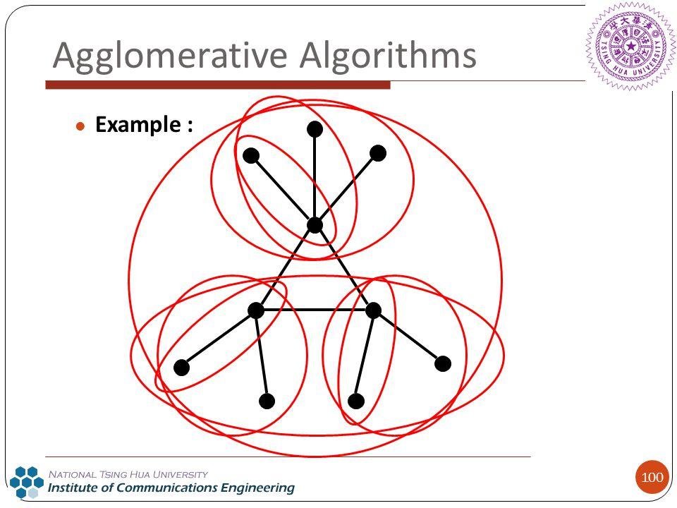 100 Agglomerative Algorithms Example :