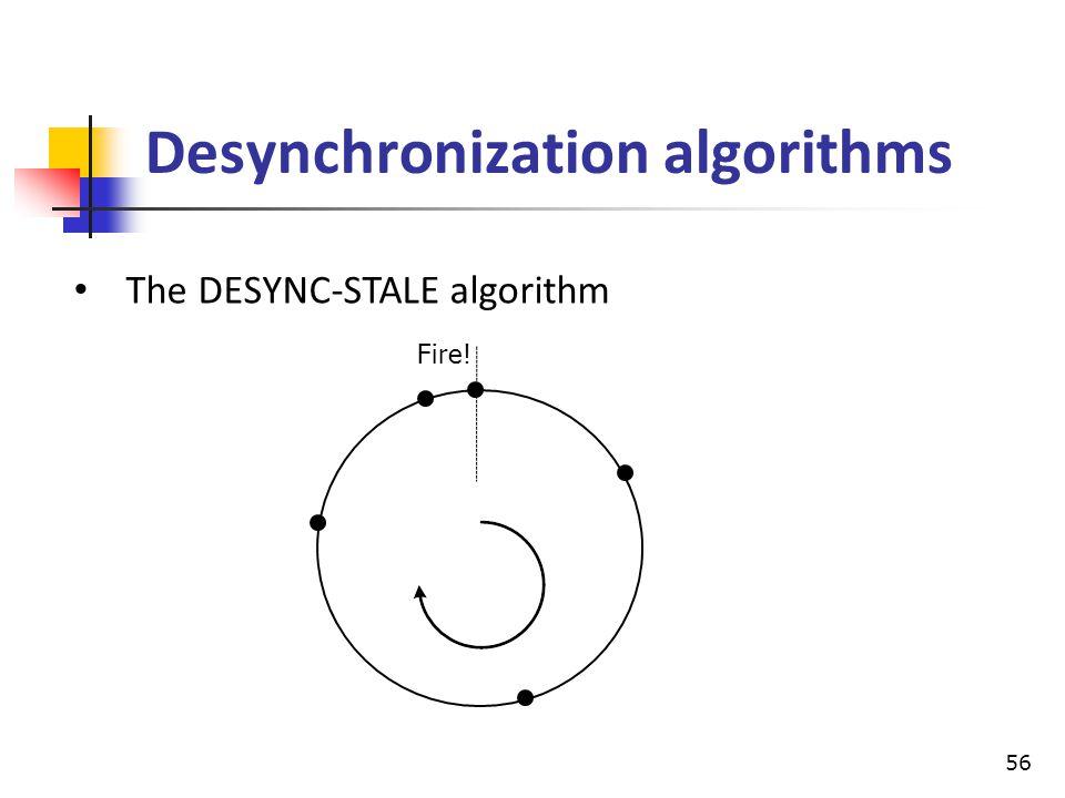 Desynchronization algorithms The DESYNC-STALE algorithm 56 Fire!