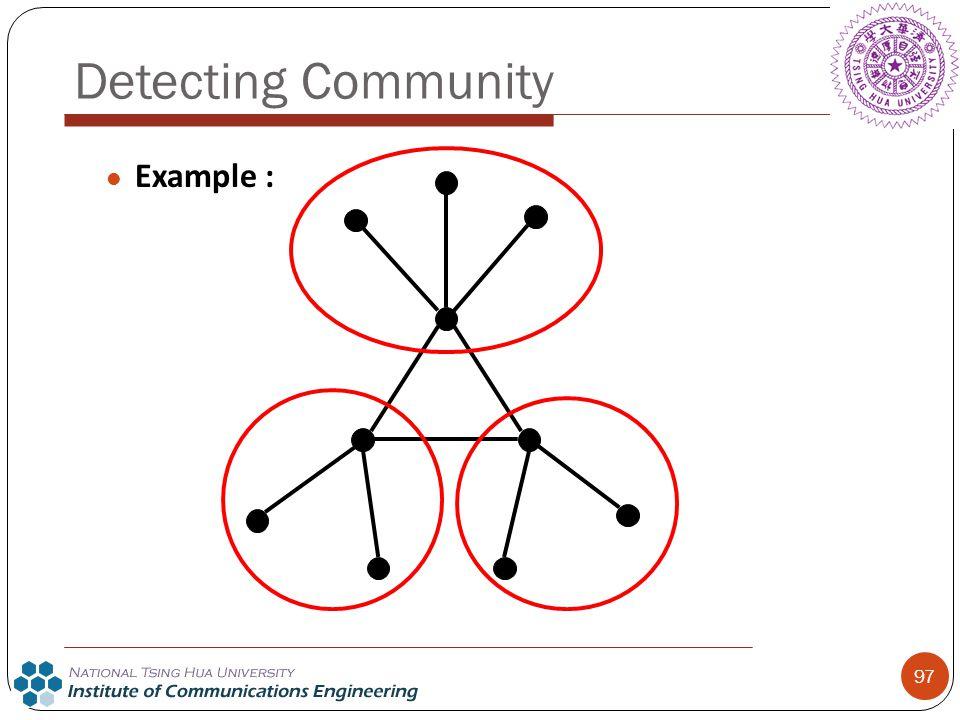 97 Detecting Community Example :