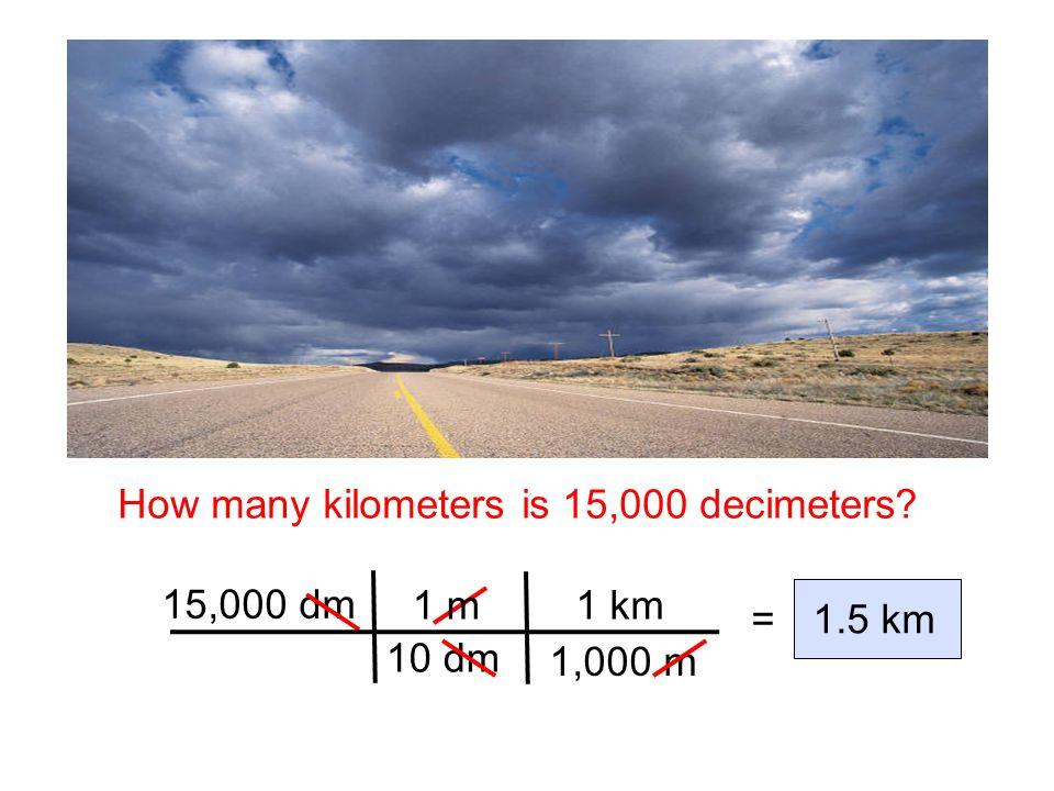 How many m is 8.72 cm? conversion factors: equality: or 8.72 cm = 0.0872 m 1 m = 100 cm ______1 m 100 cm Again, the units must cancel. ______ 1 m 100
