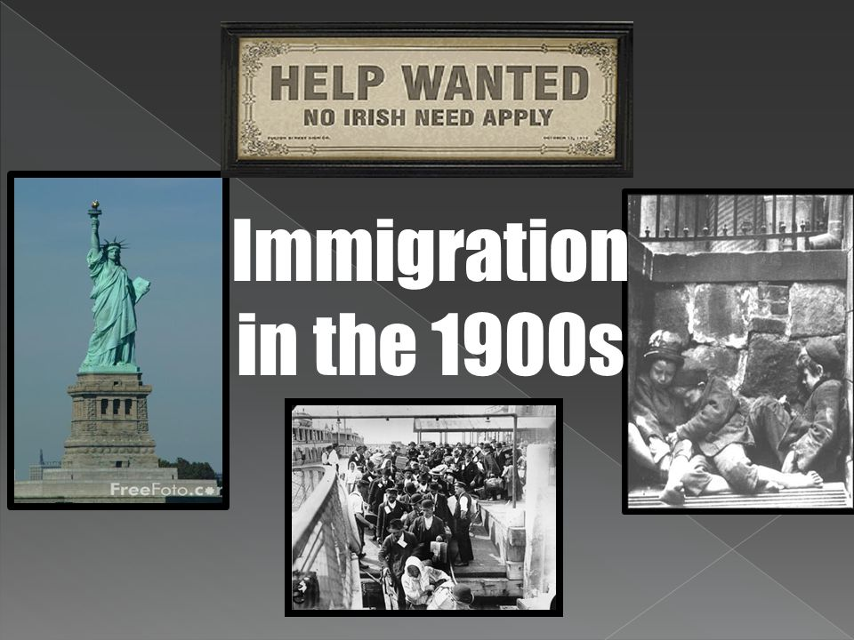 Old Immigration When the 13 colonies were established, most immigrants to America were from England.