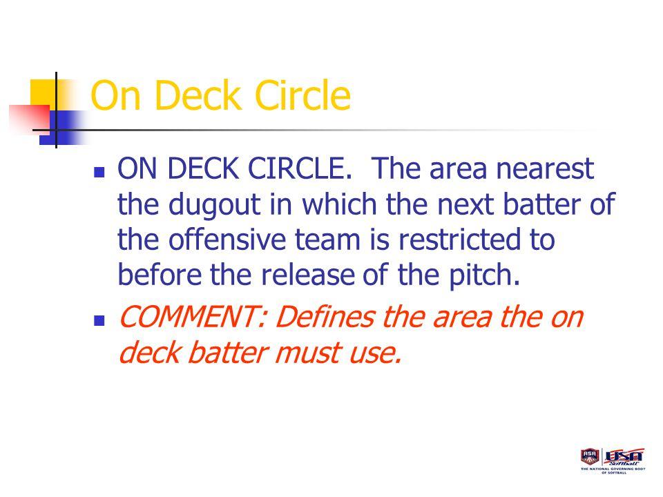 On Deck Circle ON DECK CIRCLE.