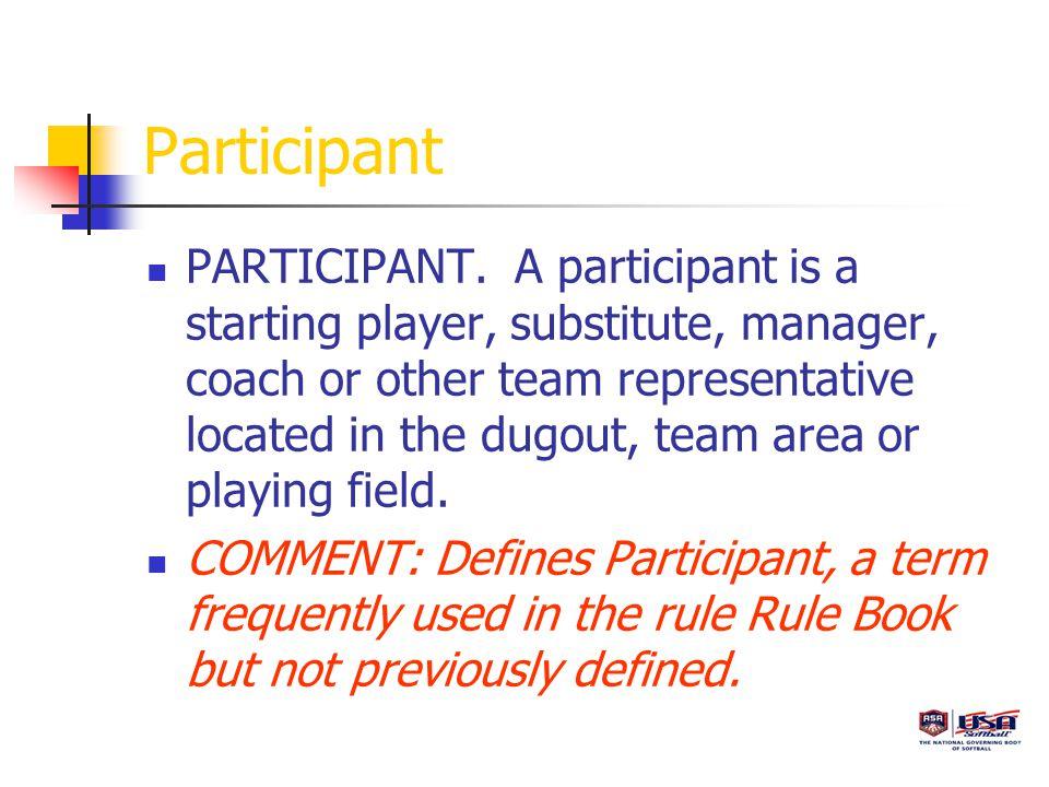 Participant PARTICIPANT.