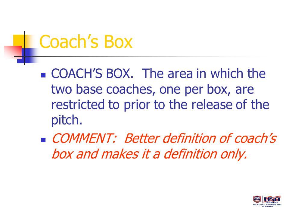 Coach's Box COACH'S BOX.