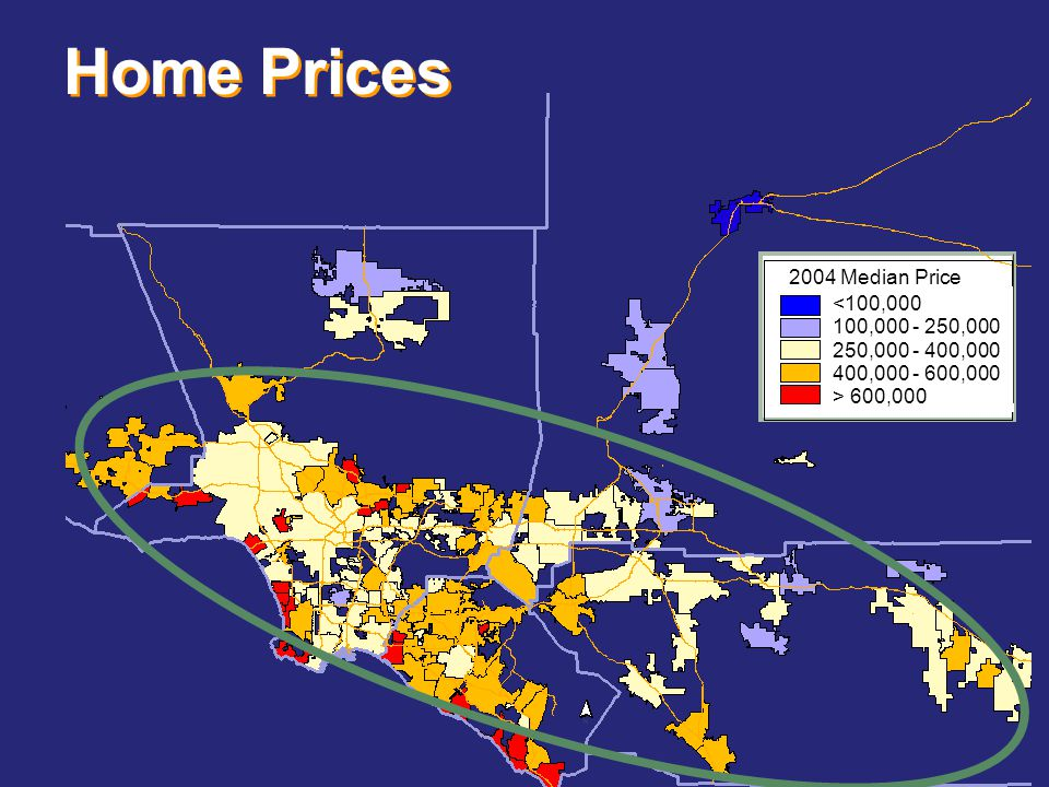 Home Prices 600,000 2004 Median Price