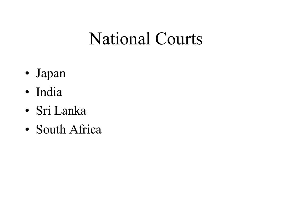 National Courts Japan India Sri Lanka South Africa