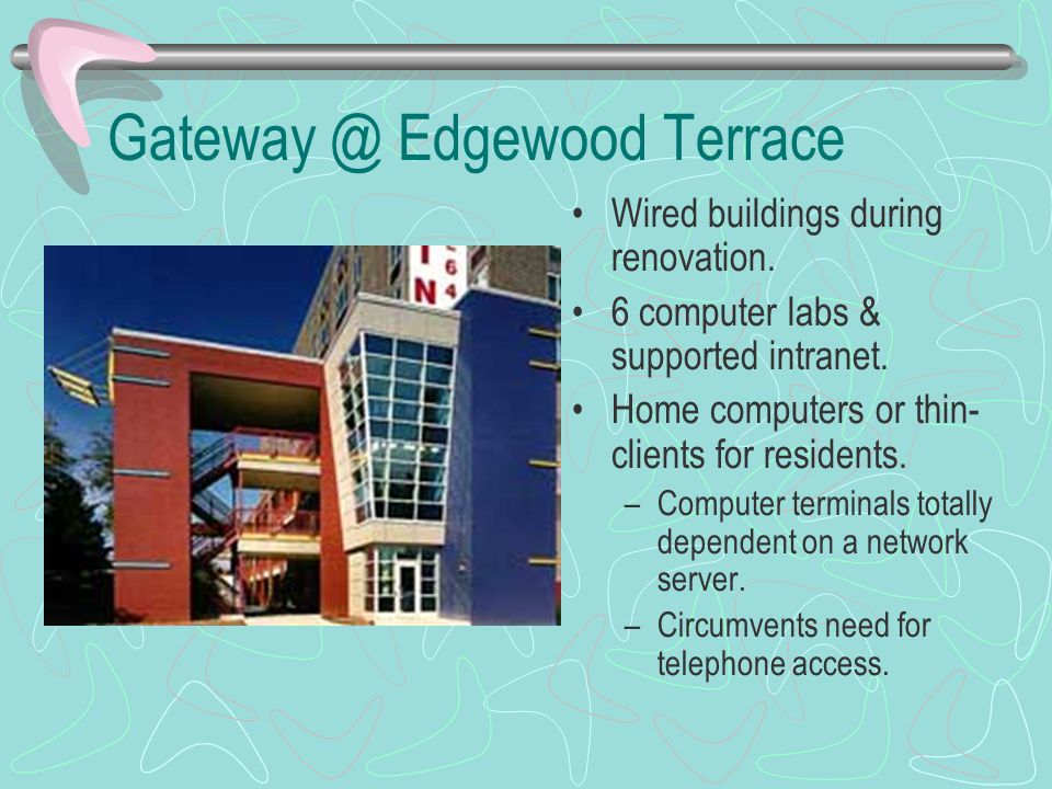 Gateway @ Edgewood Terrace Wired buildings during renovation.