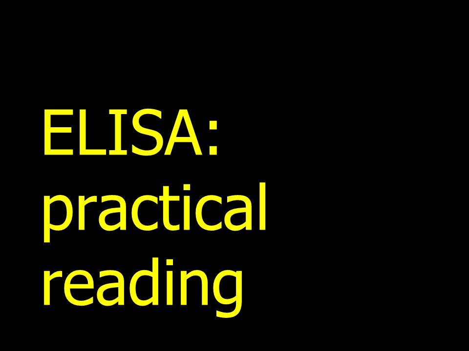 ELISA: practical reading
