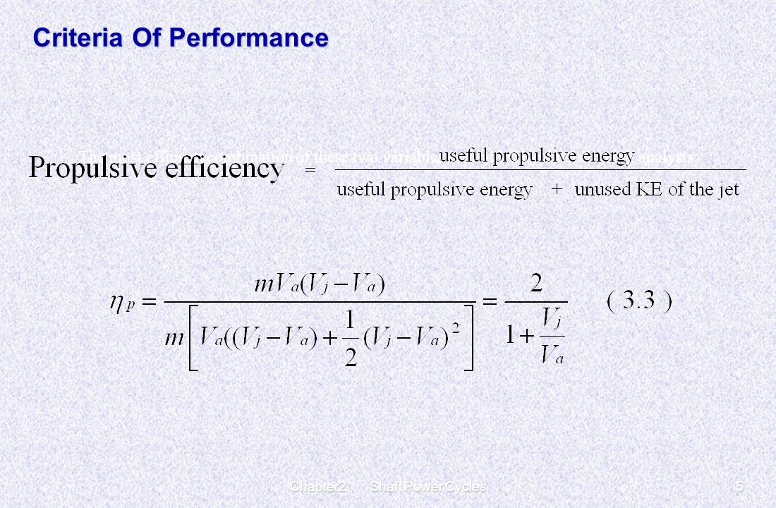Chapter2 Shaft Power Cycles5 Criteria Of Performance The most efficient combination of these two variables is povided by the following analysis;