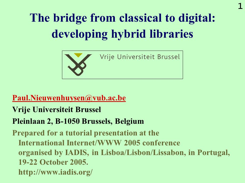 152 Libraries integrating access to fee- based and open access publications Integrating fee-based with freely-available is accomplished by the implementation of an OpenURL link resolving system and by feeding the knowledge base of this generator with information about relevant, present-day information resources that are freely accessible through the Internet and the WWW.