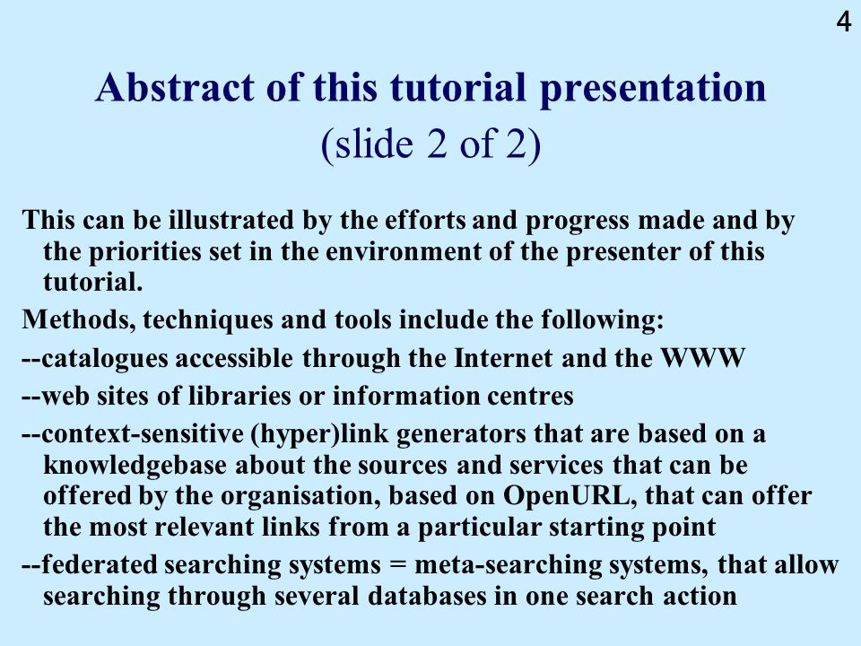 195 Federated searching: difficulties / challenges / problems -Some databases are accessible only by a limited number of concurrent/simultaneous users from one organisation, as agreed in the licence and controlled by the authorization software of the database.