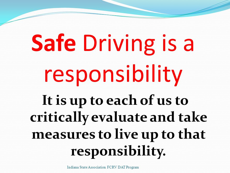 It is up to each of us to critically evaluate and take measures to live up to that responsibility.
