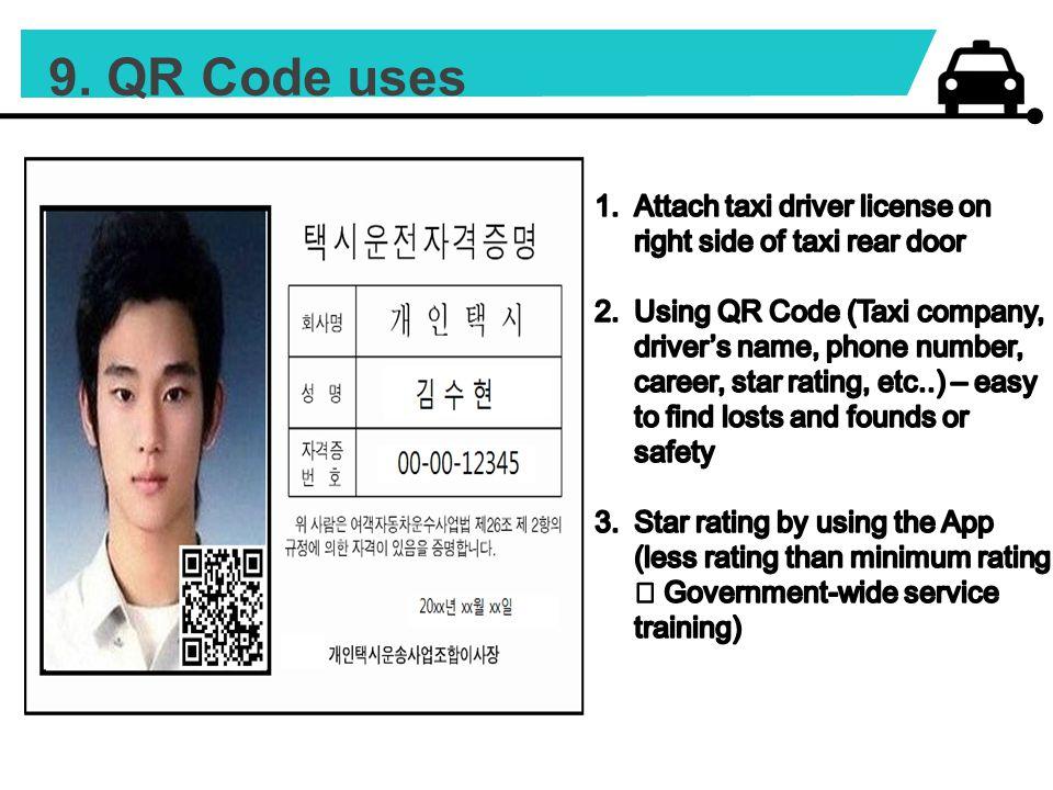 9. QR Code uses