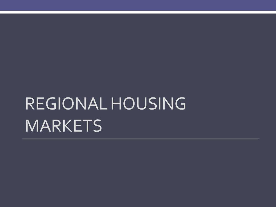 REGIONAL HOUSING MARKETS