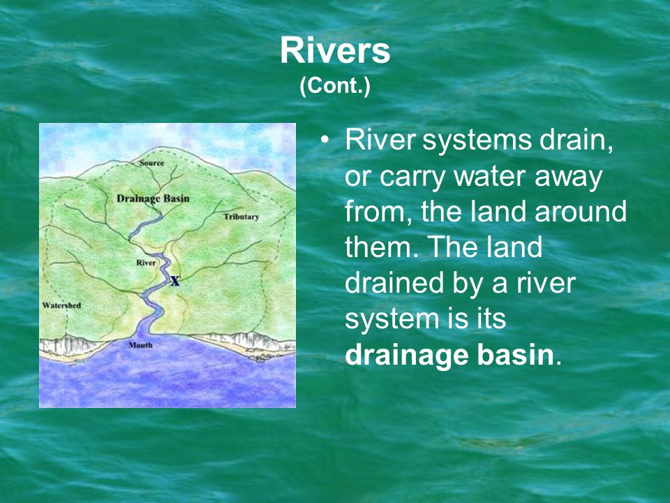 River systems drain, or carry water away from, the land around them.