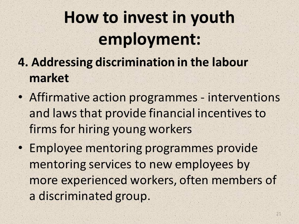 How to invest in youth employment: 4.