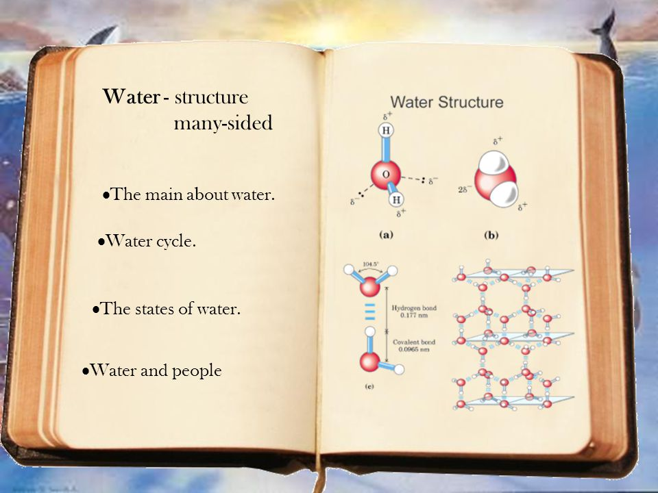  Water cycle. Water cycle.  The states of water.