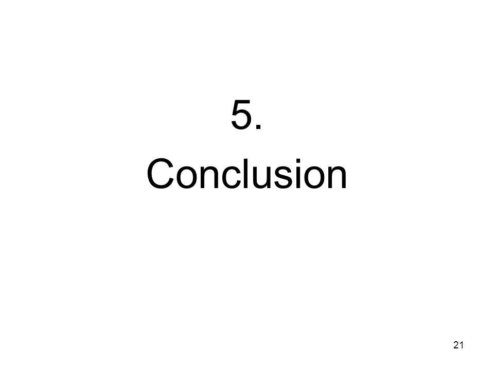 21 5. Conclusion
