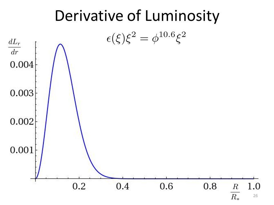 Derivative of Luminosity 26