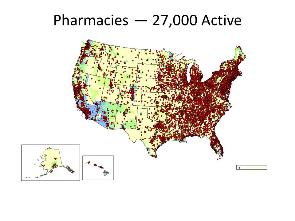 Pharmacies — 27,000 Active