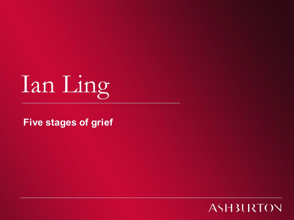 Climate Change – South African Conferences 2009 Climate change Ian Ling Five stages of grief