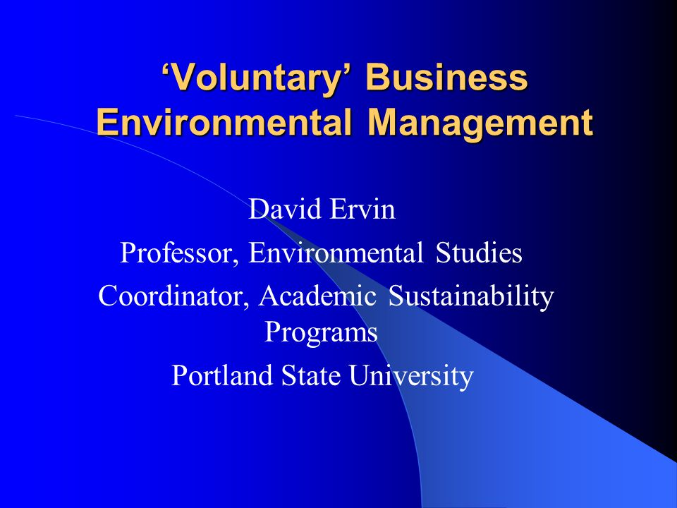 © 2006 Portland State University Outline Why is 'green business' growing.