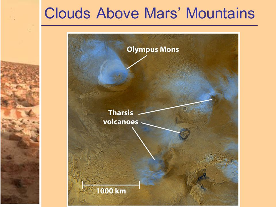Clouds Above Mars' Mountains