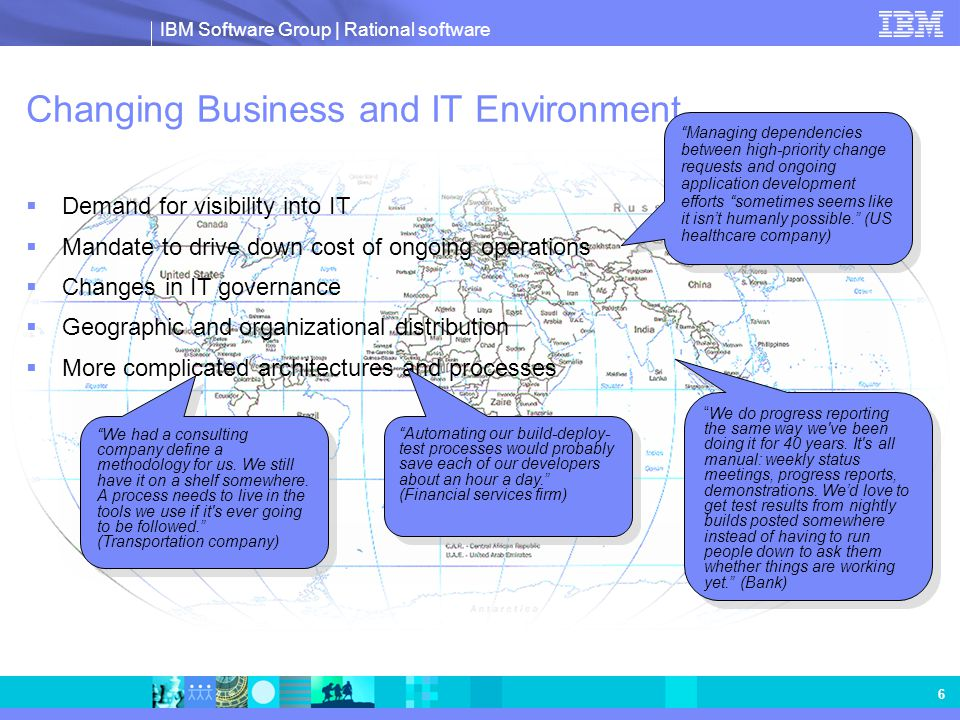 IBM Software Group | Rational software 7 Jazz: Technology Innovation for the Rational Software Delivery Platform Eclipse Experience Eclipse Experience Web 2.0 Agile Practices Agile Practices ALM Solve the old problem of collaboration With new architecture & technologies & philosophies
