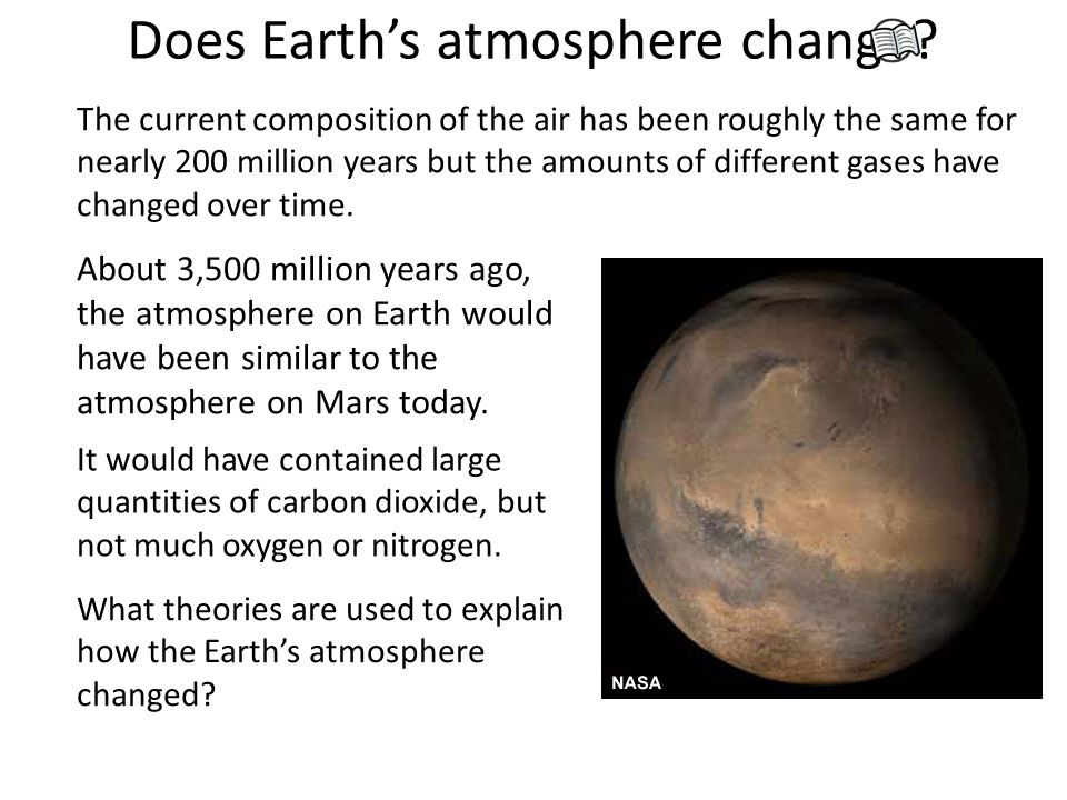 Does Earth's atmosphere change.