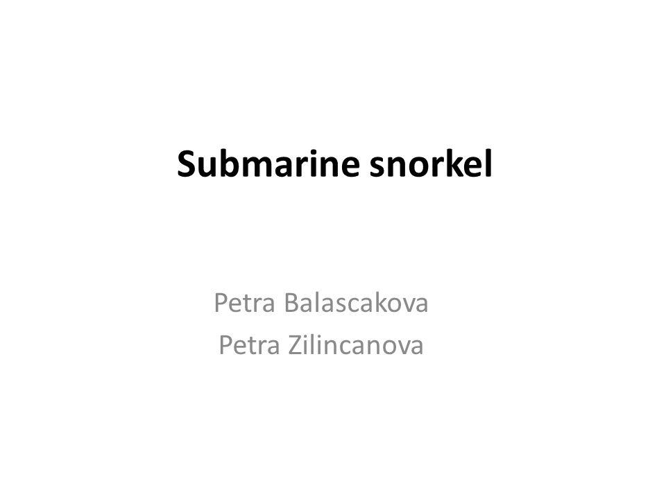 Submarine snorkel Petra Balascakova Petra Zilincanova